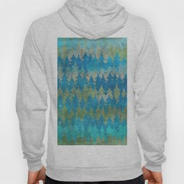The secret forest - Abstract aqua turquoise Forest tree pattern Hoody