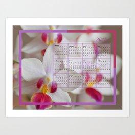Calendar 2015 Orchids Art Print