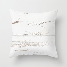 Vintage White Wood Throw Pillow