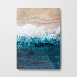 Watercolour Summer beach III Metal Print