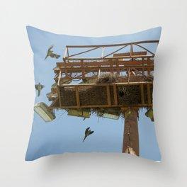 Stadium Light Parrot Nest Throw Pillow