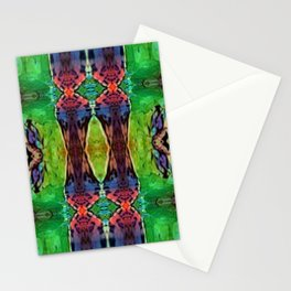 Kaleidoscope Tile (Green, Blue, Red and Yellow)  Stationery Cards