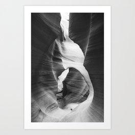 ANTELOPE CANYON IX (B+W) Art Print