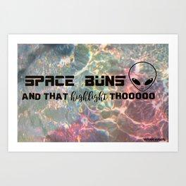 Space BUNZ Art Print