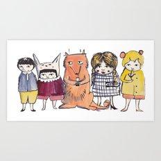 Moo Friends Art Print