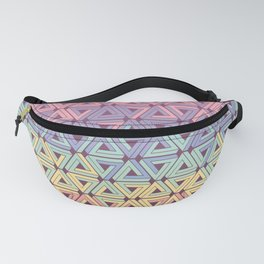 Holographic Candy Geometric Fanny Pack