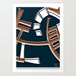 Talleres Facultad de Ciencias -Detail- Art Print