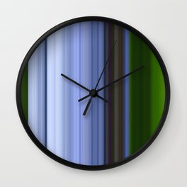 Scanline | Lobelia 413 Wall Clock
