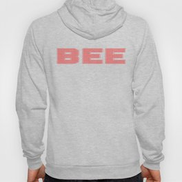 Bee Dotted Text Design Hoody