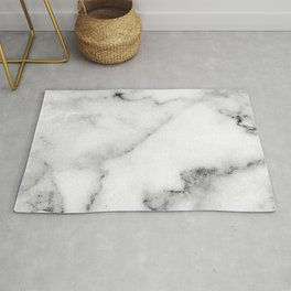 Classic white and gray marble Rug