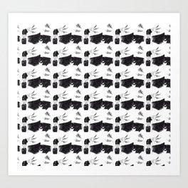 Crowhead Art Print