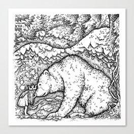 John Bauer Bear Canvas Print