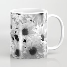 Daisy Chaos in Black and White Coffee Mug
