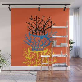 matisse coral Wall Mural