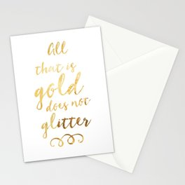 All That is Gold Stationery Cards