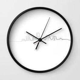 City line silver Wall Clock