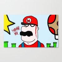 super mario Canvas Prints featuring Super Mario by Di Leo Comics