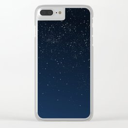 Stars in Space Clear iPhone Case