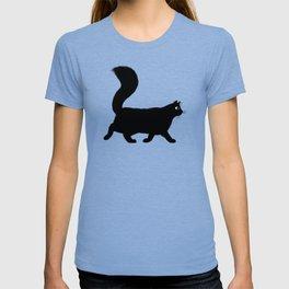 Walking Black Cat T-shirt