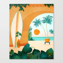 Seaside Surf Retreat Canvas Print