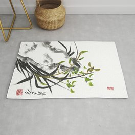 Green Orchid One Rug