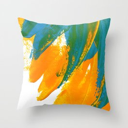 Wings Collection orange/cyan Throw Pillow