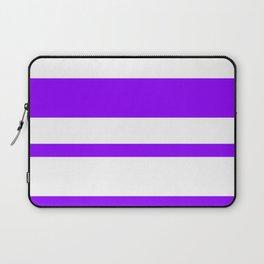 Mixed Horizontal Stripes - White and Violet Laptop Sleeve