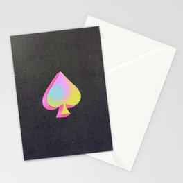 Iridescent Spade Stationery Cards