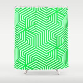 Erin - green - Minimal Vector Seamless Pattern Shower Curtain