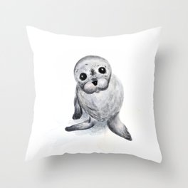 Little Seal Throw Pillow