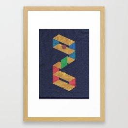 Parallelogram: Stars Framed Art Print