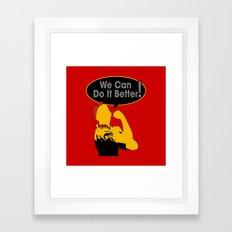 Sigma Lambda Upsilon (We Can Do It Better) Framed Art Print