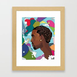 Floating in ego  Framed Art Print