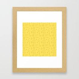 Saturday Morning Kitchen - Egg Color Framed Art Print