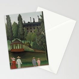 View of Montsouris Park the Kiosk Stationery Cards