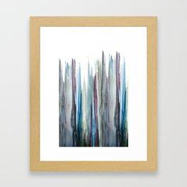 watercolor drips Framed Art Print