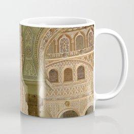 Alhambra inside | Granada Spain travel photography | Colorful pillar Coffee Mug