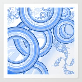 World of White-Blue Suds n Bubbles at the Car Wash Art Print