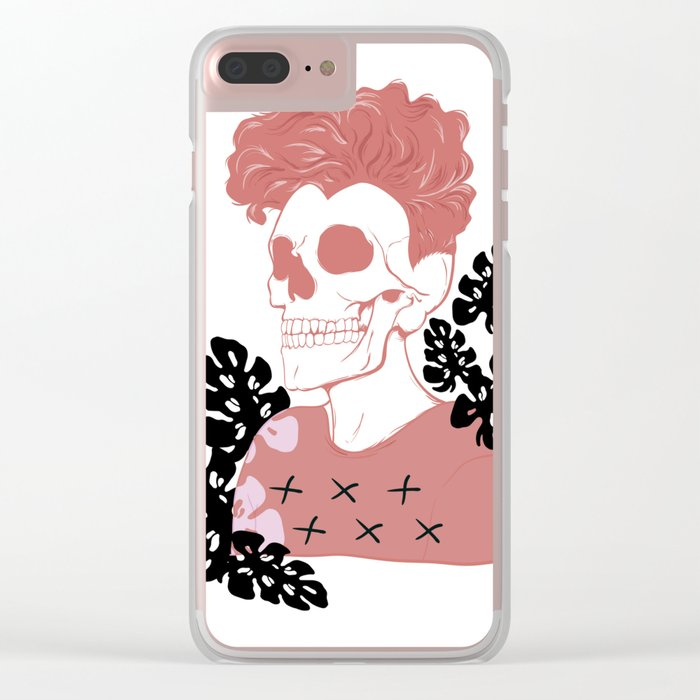 SKULL SHIT Clear iPhone Case