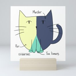 Cat Pie Chart Mini Art Print