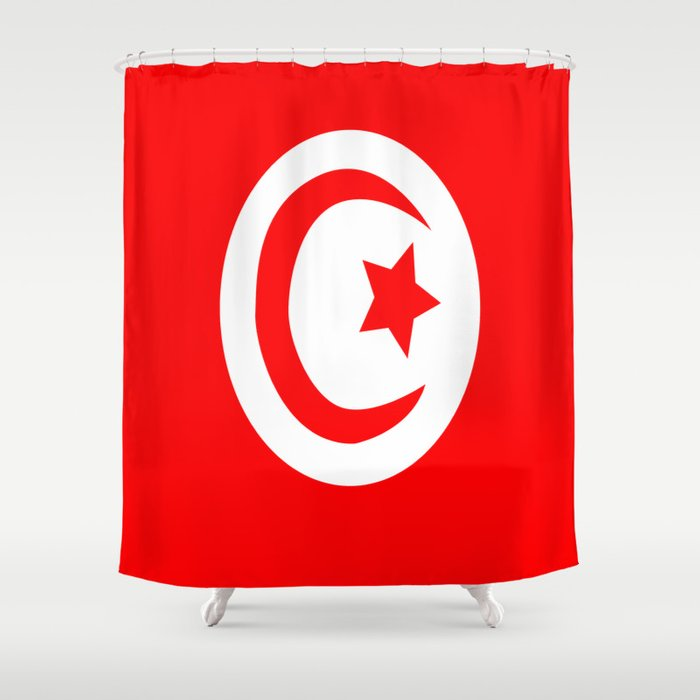 Flag of Tunisia Shower Curtain