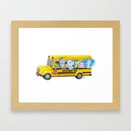 Animal SchoolBus Framed Art Print