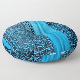 Blue Door in Paris Floor Pillow