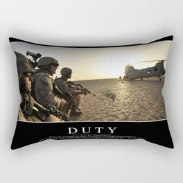 Duty: Inspirational Quote and Motivational Poster Rectangular Pillow