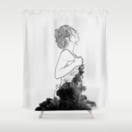 Deep ocean of secrets. Shower Curtain