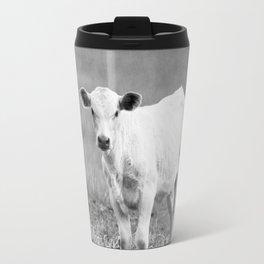 Black and White Calf Travel Mug