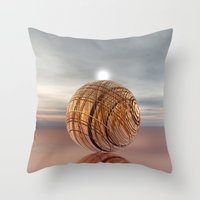 copper Throw Pillows featuring COPPER by VIAINA