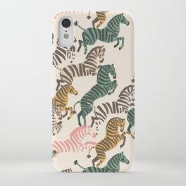 Zebra Stampede iPhone Case