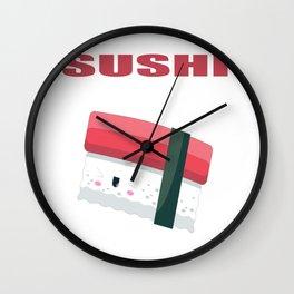 Kawaii Sushi Halloween Costume  Wall Clock