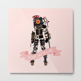 Fight Like a Girl: Big Sister Metal Print